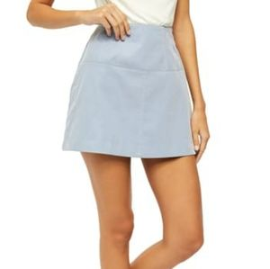 Free people blue faux suede mini skirt